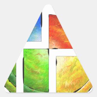 Blessinia - colourful sun triangle sticker