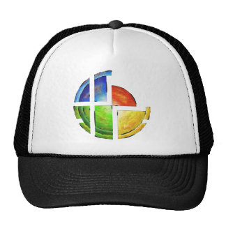 Blessinia - colourful sun trucker hat
