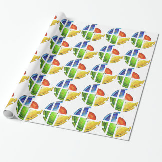 Blessinia - colourful sun wrapping paper