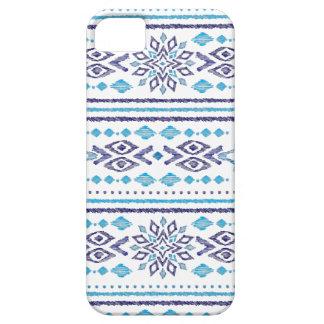 bleu aztèque de folklore d'ikat iPhone 5 case