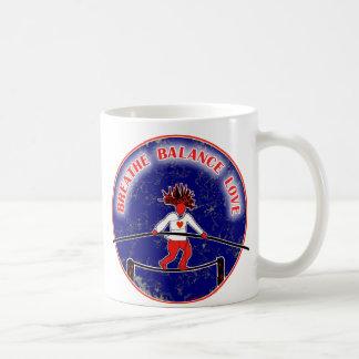 Bleu blanc rouge d'amour de souffle d'équilibre mugs à café