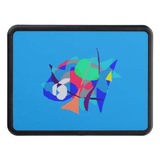 Bleu-clair rêveur abstrait couverture d'attelage de remorque