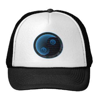 Bleu cosmique dans l'équilibre Yin Yang Casquettes De Camionneur