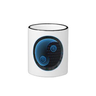 Bleu cosmique dans l'équilibre Yin Yang Tasse À Café