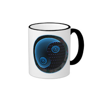 Bleu cosmique dans l'équilibre Yin Yang Mugs