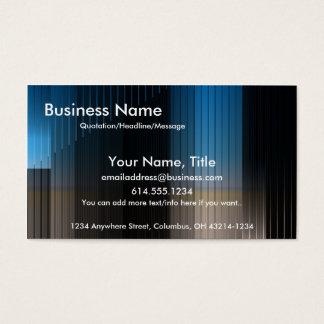Bleu d'affaires, Brown et carte de visite de