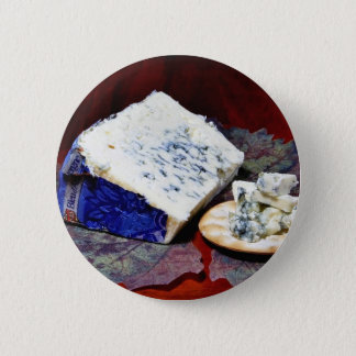 Bleu Dauvergne Cheese 2 Inch Round Button
