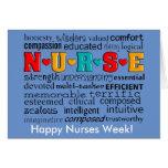 Bleu de carte de voeux d'appréciation d'infirmière