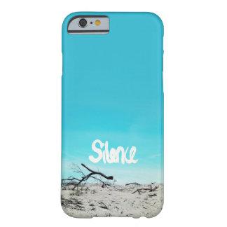 Bleu de citation d'hiver de plage de silence coque barely there iPhone 6