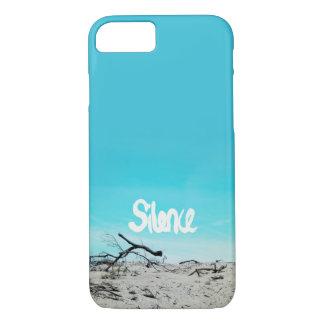 Bleu de citation d'hiver de plage de silence coque iPhone 7