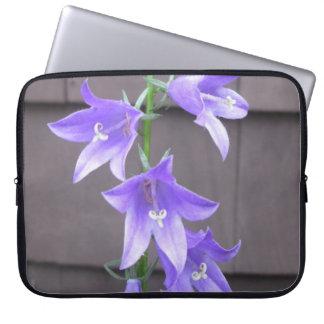 Bleu de fleur d usine de jardin de Campanula Trousse Ordinateur