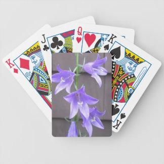 Bleu de fleur d usine de jardin de Campanula Jeux De Cartes