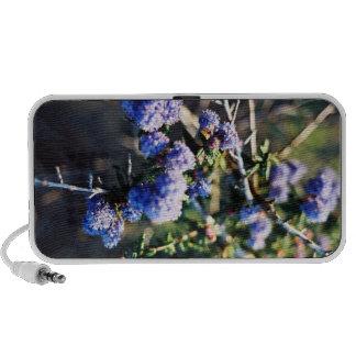 Bleu de fleur haut-parleurs ordinateur portable