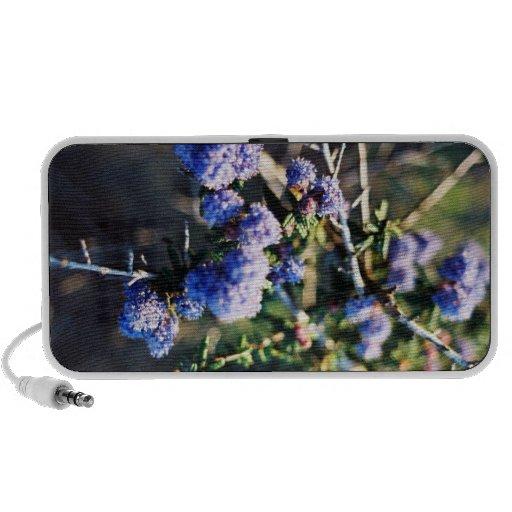 Bleu de fleur haut-parleurs iPod