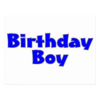 Bleu de garçon d'anniversaire carte postale