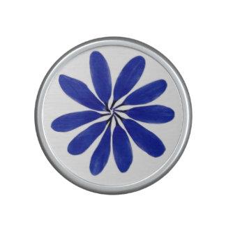 Bleu de haut-parleur de bluetooth de fleur