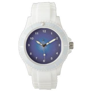 Bleu d'éraflure montres bracelet