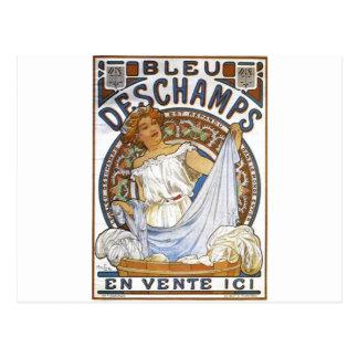 Bleu Deschamps by Alphonse Mucha Postcard