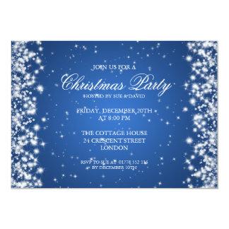 Bleu élégant d'étincelle de partie carton d'invitation  12,7 cm x 17,78 cm