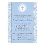 Bleu et baptême de Brown/invitation de baptême