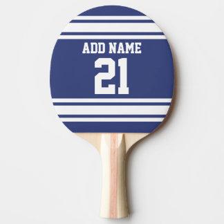Bleu et blanc folâtre le nombre nommé fait sur raquette tennis de table
