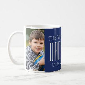 Bleu fait sur commande de tasse de fête des pères
