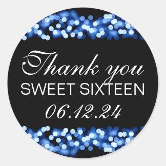 Bleu fascinant de Hollywood du bonbon 16 à Merci Sticker Rond