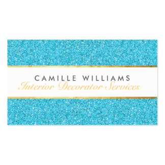 Bleu fascinant scintillant ÉLÉGANT de Carte De Visite Standard