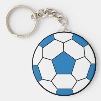 Bleu Keychain de ballon de football Porte-clefs