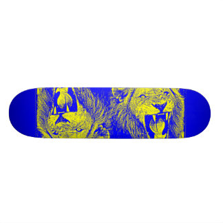 bleu lion skate board deck