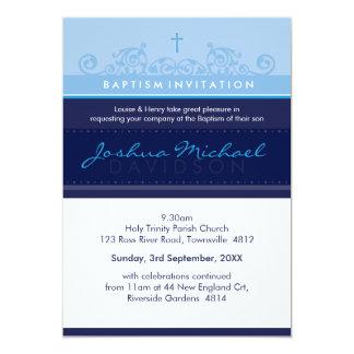 bleu marine élégant d'INVITATION FAIT SUR COMMANDE Carton D'invitation 12,7 Cm X 17,78 Cm