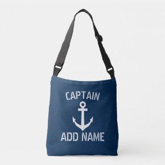 Bleu marine nautique d'ancre de bateau de sac