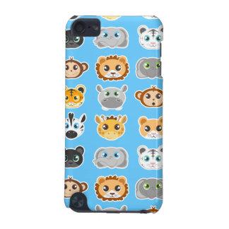 Bleu mignon de motif d'animaux de jungle coque iPod touch 5G