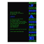 Bleu moderne frais de noir d'invitation de Mitzvah