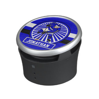 Bleu personnalisé de joueur de hockey de glace haut-parleur bluetooth