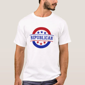 Bleu républicain de logo de timbre t-shirt