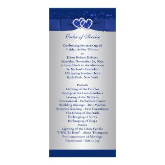 Bleu royal, coeurs floraux argentés épousant le pr