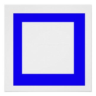 Bleu square poster