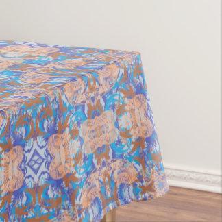 bleu tablecloth
