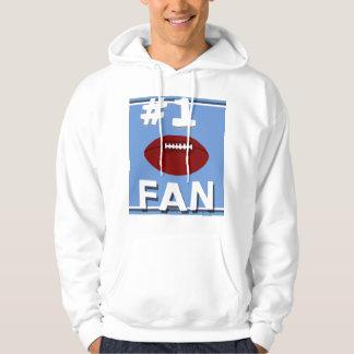 Bleus layette de passioné du football #1 et pulls avec capuche