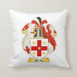 Blevins Family Crest Square Pillow