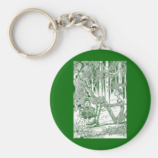Blib and Blob Sit in the Woods Basic Round Button Keychain