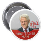 Blii Clinton for First Ladies Man Pin