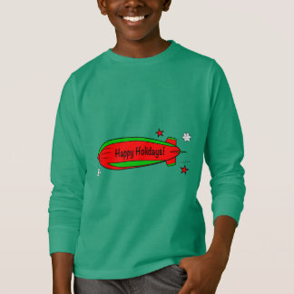 Blimp Floating through the Snow: Happy Holidays! T-Shirt