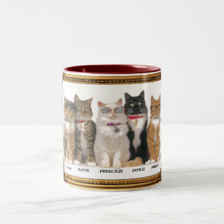 BLIND AS A CAT, Two-Tone COFFEE MUG