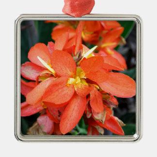 Blind Attraction Silver-Colored Square Ornament