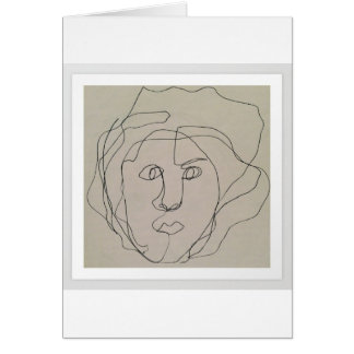 Blind contour drawing design card