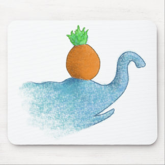 Blind elephant balancing a pineapple... mouse pad