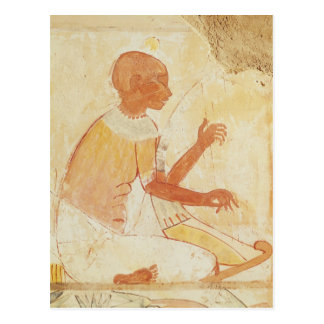 Blind Harpist Singing, from the Tomb of Nakht Postcard