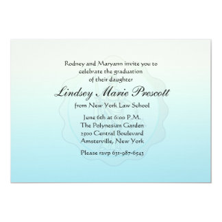 Blind Justice Graduation Invitation